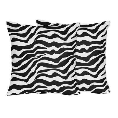 Zebra Cotton Throw Pillow