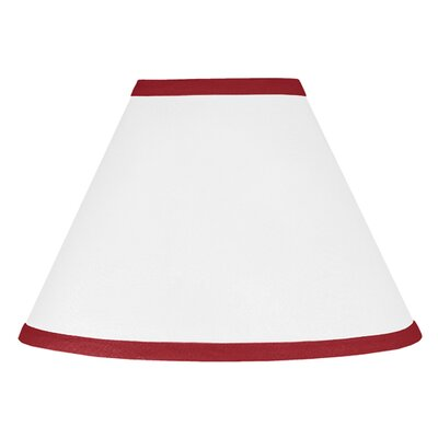 Hotel 10 Cotton Empire Lamp Shade Size: 10, Color: White and Red