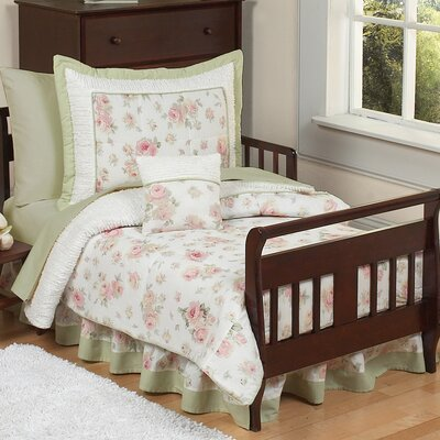 Sweet Jojo Designs Riley's Roses Collection 5pc Toddler Bedding Set