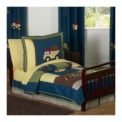 Sweet Jojo Designs Construction 5 Piece Toddler Bedding Set Construction-Tod