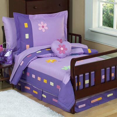 Sweet Jojo Designs Danielle's Daisies 5 Piece Toddler Bedding Set Daisies-Tod