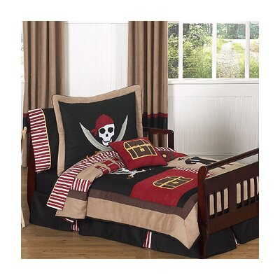 Sweet Jojo Designs Pirate Treasure Cove 5 Piece Toddler Bedding Set Pirate-Tod
