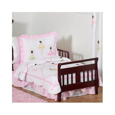 Sweet Jojo Designs Ballerina 5 Piece Toddler Bedding Set Ballerina-Tod