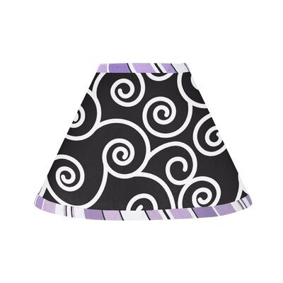 Kenya 10 Cotton Empire Lamp Shade Size: 7, Color: Purple, Black, and White