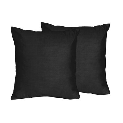 Chevron Solid Throw Pillows Color: Black