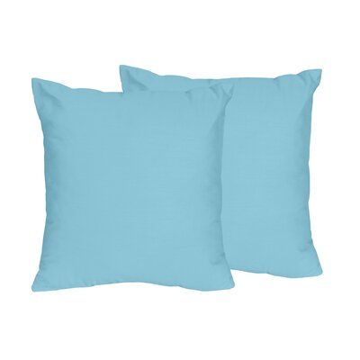 Chevron Solid Throw Pillows Color: Turquoise