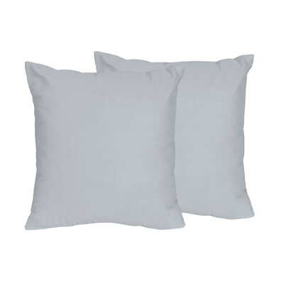 Chevron Solid Throw Pillows Color: Gray