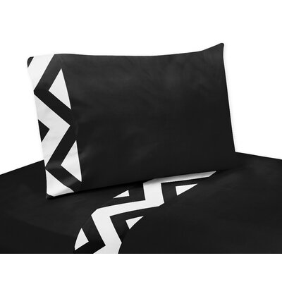 Chevron Sheet Set Size: Queen, Color: Black