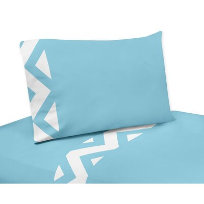 Chevron Sheet Set Size: Queen, Color: Turquoise
