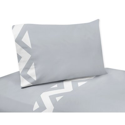 Chevron Sheet Set Size: Queen, Color: Gray