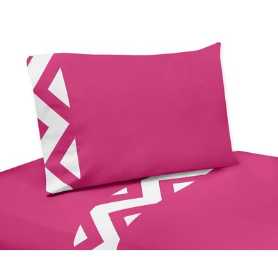 Chevron Sheet Set Size: Queen, Color: Pink