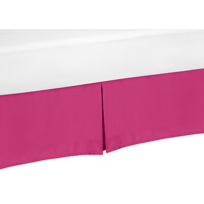 Chevron Toddler Bed Skirt Color: Pink