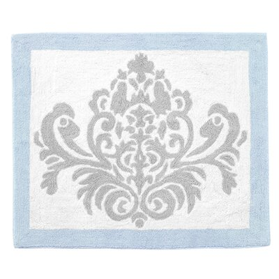 Avery Floor Gray/White Area Rug Color: Blue