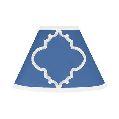 Trellis 10 Brushed Microfiber Empire Lamp Shade Color: Blue and White