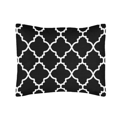 Trellis Standard Pillow Sham Color: Black/White