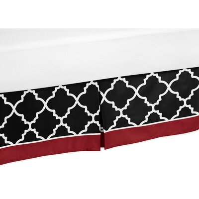 Trellis Toddler Bed Skirt Color: Red and Black