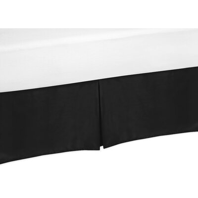 Trellis Bed Skirt Size: King, Color: Black and White