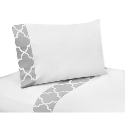 Trellis Sheet Set Size: Queen, Color: White
