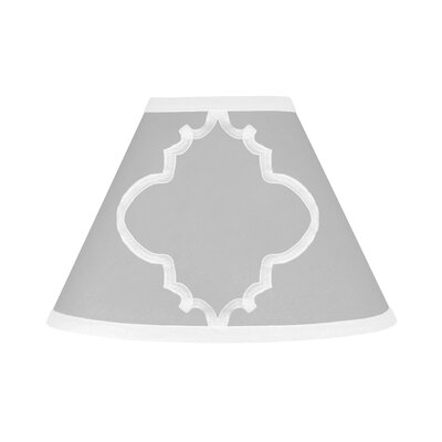 Trellis 10 Brushed Microfiber Empire Lamp Shade Color: Grey and White