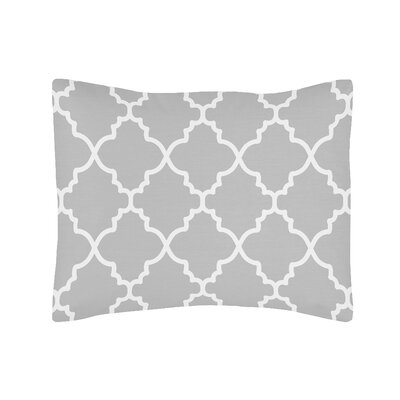 Trellis Sham Color: Gray/White
