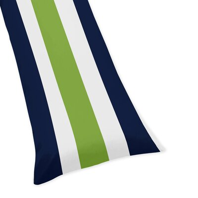 Stripe Body Pillowcase Color: Blue/Green