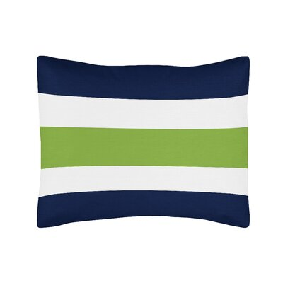 Stripe Standard Pillow Sham Color: Blue/Green