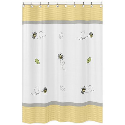 Honey Bee Cotton Shower Curtain
