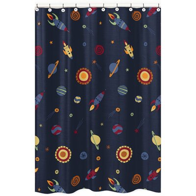 Space Galaxy Microfiber Shower Curtain
