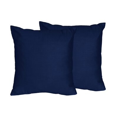 Chevron Solid Navy Blue Throw Pillows