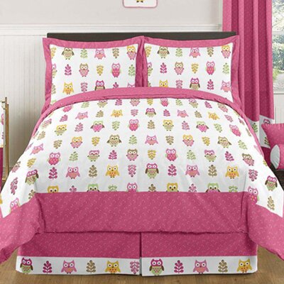 Happy Owl 3 Piece Comforter Set