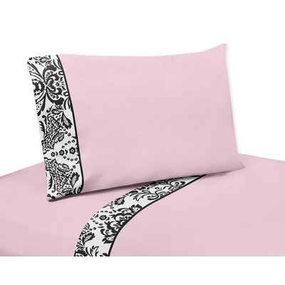 Sophia 4 Piece 100% Cotton Sheet Set Size: Queen