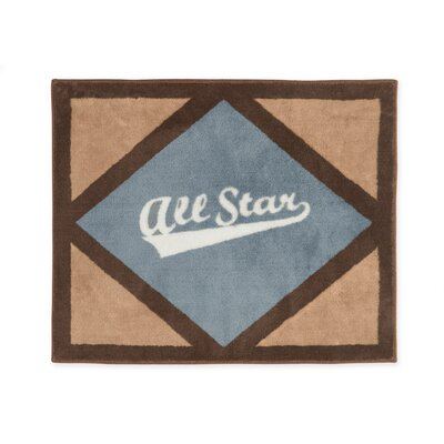 All Star Sports Floor Brown/Gray Area Rug Rug Size: 26 x 3