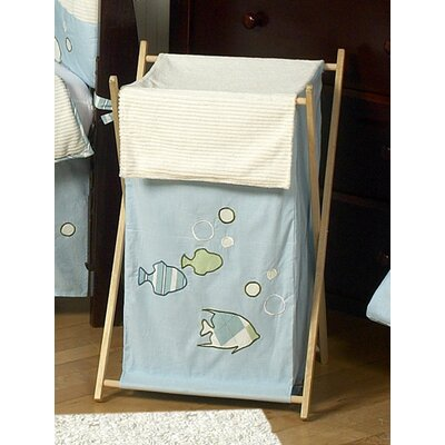 Crib Bedding Set Go Fish Laundry Hamper
