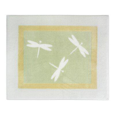 Green Dragonfly Dreams Collection Floor Indoor/Outdoor Area Rug Rug Size: 26 x 3