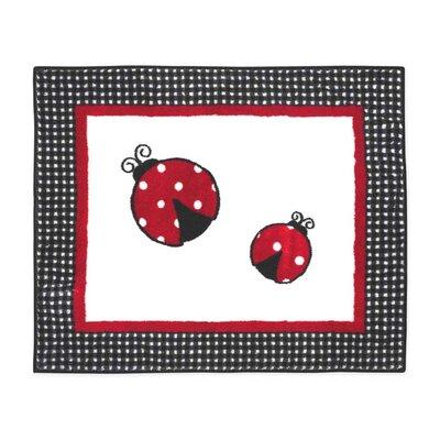 Little Ladybug Floor Rug Rug Size: 26 x 3