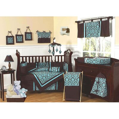 bella turquoise collection 9pc crib bedding set
