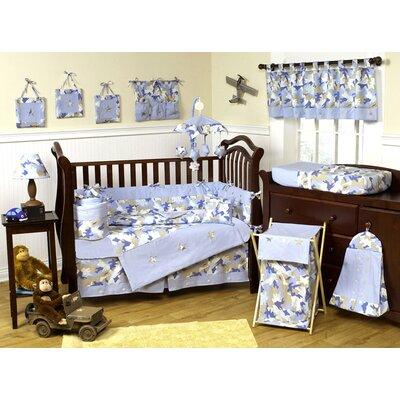 Blue and Khaki Camo Crib Bedding Set