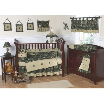 Green Camouflage Baby Bedding Set