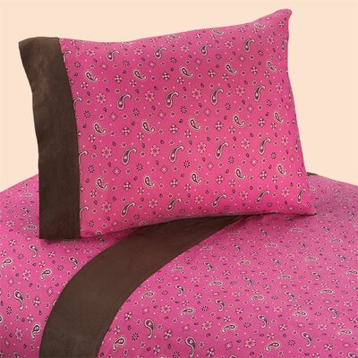 Cowgirl 4 Piece 100% Cotton Sheet Set Size: Twin