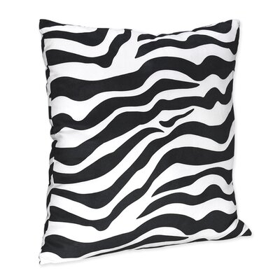 Zebra Microsuede Throw Pillow Color: Purple