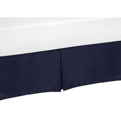 Arrow Solid Navy Blue Bed Skirt Size: Queen
