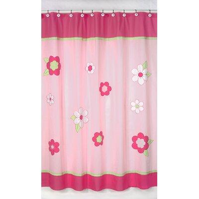 Flower Cotton Shower Curtain