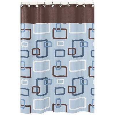 Geo Cotton Shower Curtain