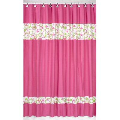 Circles Pink Cotton Shower Curtain