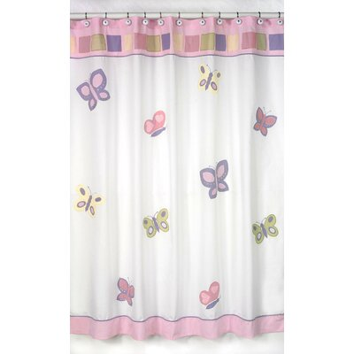 Butterfly Shower Curtain Color: Pink and Purple