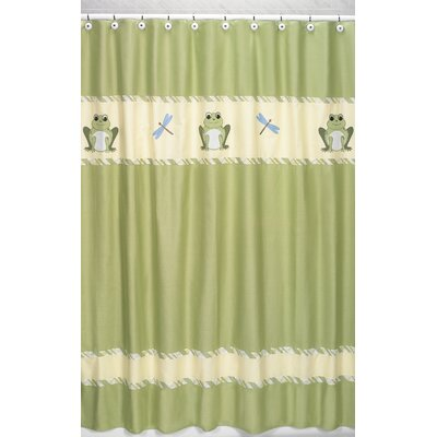 Leap Frog Cotton Shower Curtain