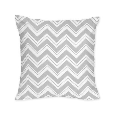 Zig Zag Decorative Pillow Color: Gray and White