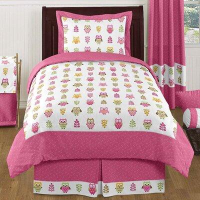 Happy Owl 4 Piece Twin Comforter  Set
