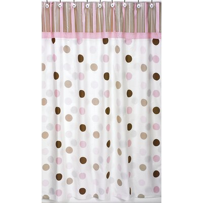 Mod Dots Cotton Shower Curtain Color: Pink