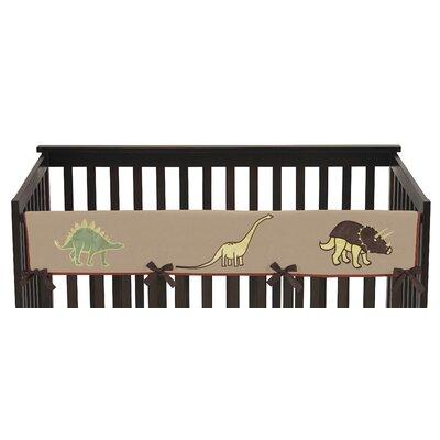 Dinosaur Land Long Crib Rail Guard Cover